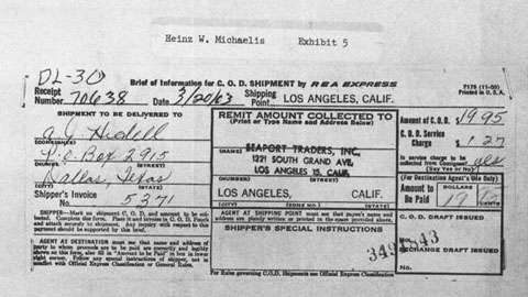 Purchase; Jfk Revolver Allegations False Oswald's Files Critical Mail-order Prove
